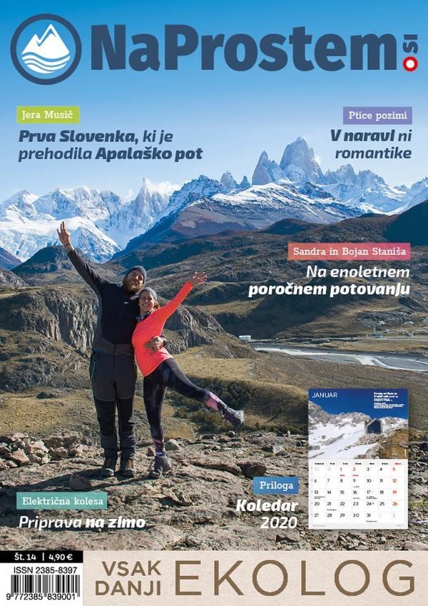 Sandra in Bojan Staniša Treking prestolnica Argentine, El Chalten