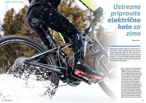 Ustrezno pripravite električno kolo za zimo
