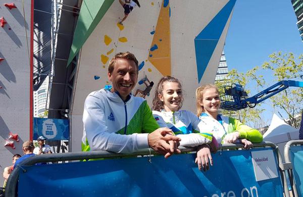 Plezalka Vita Lukan v finalu mladinskih olimpijskih iger