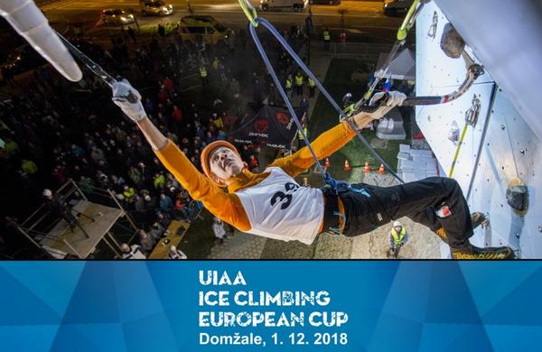 Najboljši evropski tekmovalci v lednem plezanju znova v Domžalah