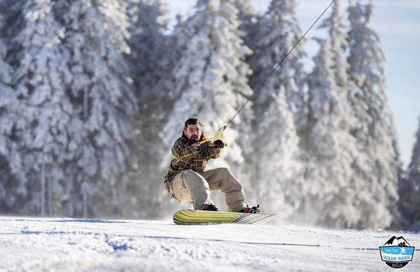 Imamo prvi snežni wake park na snegu v Sloveniji