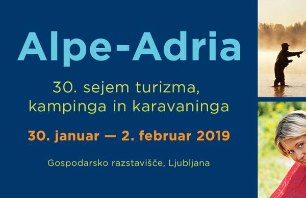 Konec januarja 30. Alpe-Adria – mednarodni sejem za zeleni, aktivni turizem ter kamping in karavaning