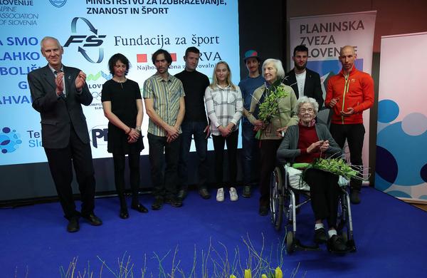 Planinska zveza Slovenije razglasila najboljše športnike leta 2018