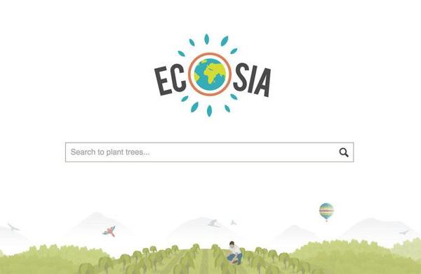 Med brskanjem po spletu lahko sadite drevesa