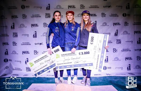 Garnbretova in Peharc zmagovalca Studio Bloc Mastersa 2019, Kramplova druga