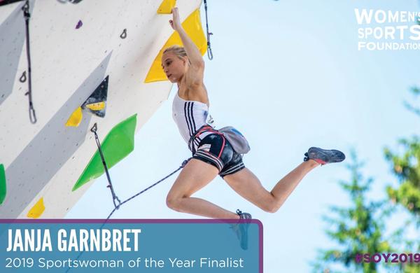 Janja Garnbret finalistka za športnico leta 2019 po izboru Women's Sports Foundation