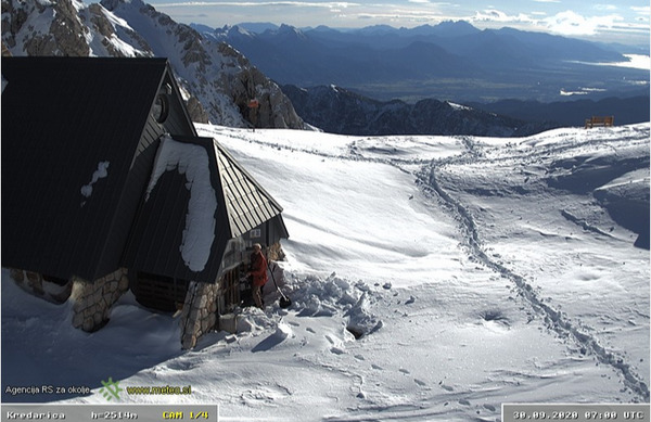 Ponekod v gorah že povsem zimsko