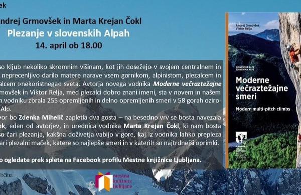 Novo predavanje: Plezanje v slovenskih Alpah