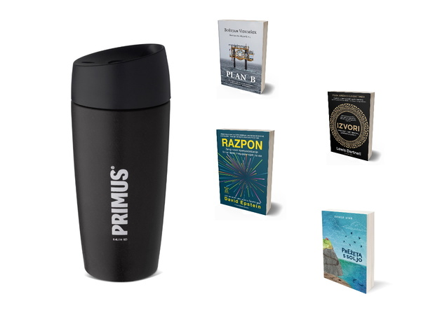 Primus Commuter Mug 0,4l lonček in knjiga po izboru